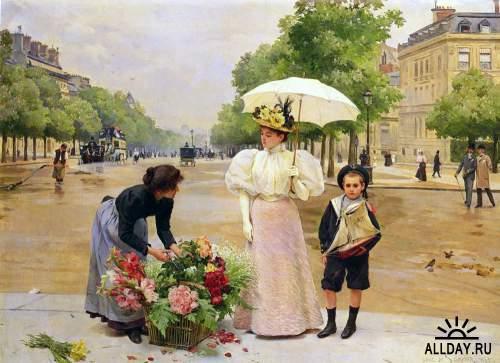 Французский художник Louis Marie de Schryver (French, 1862-1942)