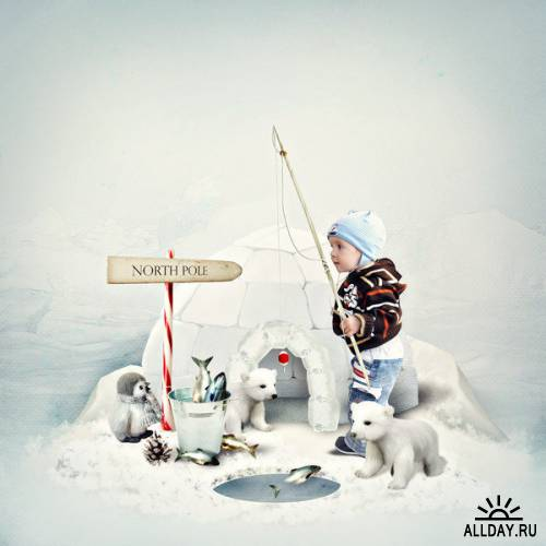 Скрап-набор North pole trip - Ice land