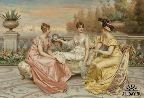Итальянский художник Frederic Soulacroix (1858-1933)