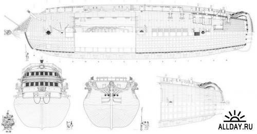 Чертежи линейного корабля Бонхомм Ричард