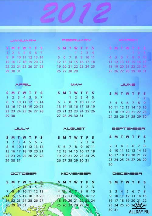 Calendar for 2012. Set.9 | Календарь на 2012 год. Вып.9