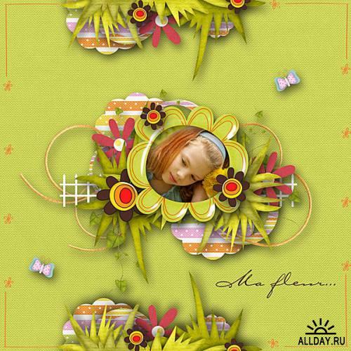 Мини-скрап - The power of flowers (Сила цветов)