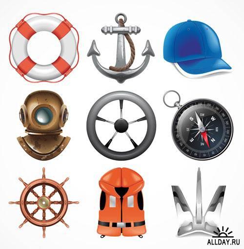Иконки с морской тематикой 3 | Icons with marine topic 3