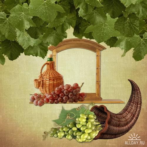 Скрап набор - World of grapes