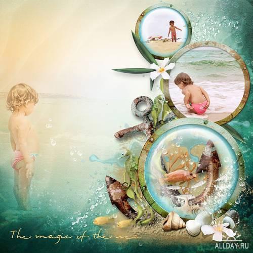 Три(3)  морских скрап-набора - Catch the waves