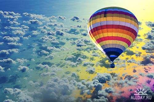 Растровый клипарт - Воздушные шары 2