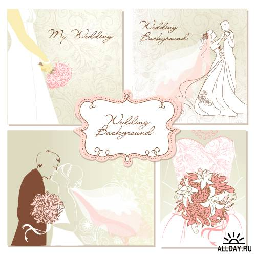 Set of wedding elements design