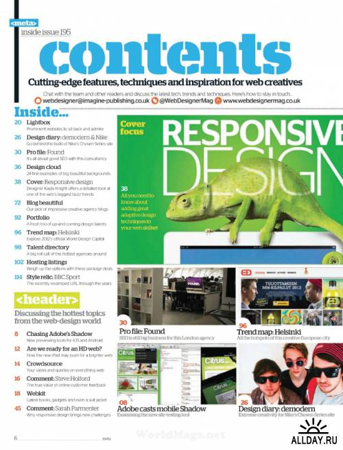 Web Designer - Issue 195, 2012