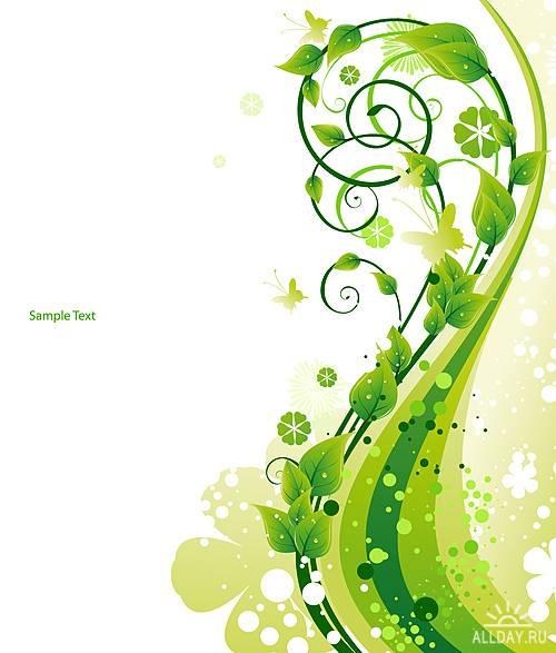 Stock Vectors - Fresh Green | Свежесть зелени