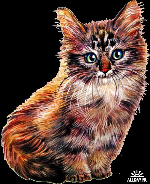 Cat Cartoon part1 Котенок мультяшный1 png