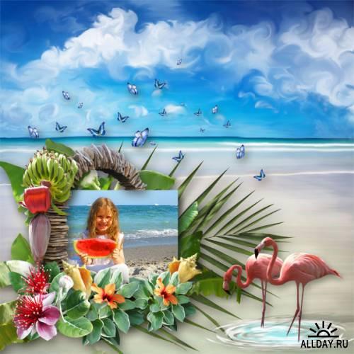 Скрап-набор Heavenly Place ( Райский уголок)