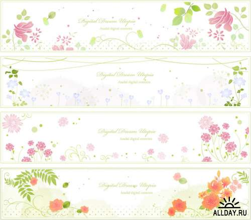 Spring Story Banners in Vector