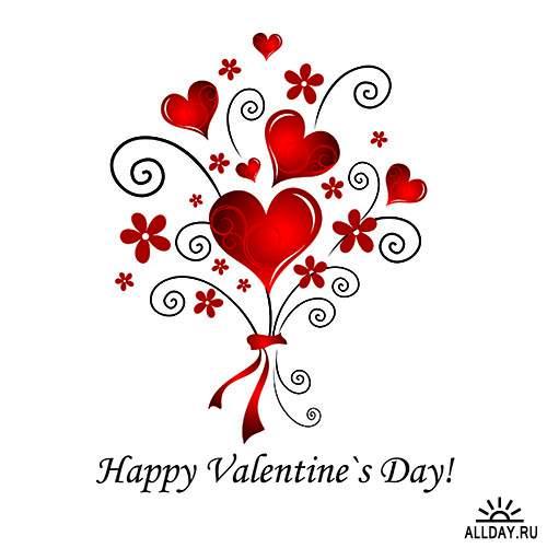 Векторный клипарт - День влюблённых 2
