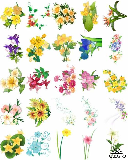 Цветы в векторе