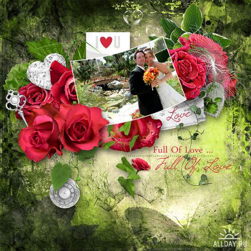 Скрап-набор Full of love