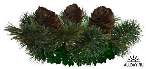 Christmas New Year garlands and wreaths   Новогодние композиции, венки и гирлянды