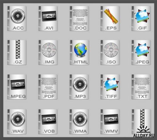 2 набора иконок - Форматы файлов