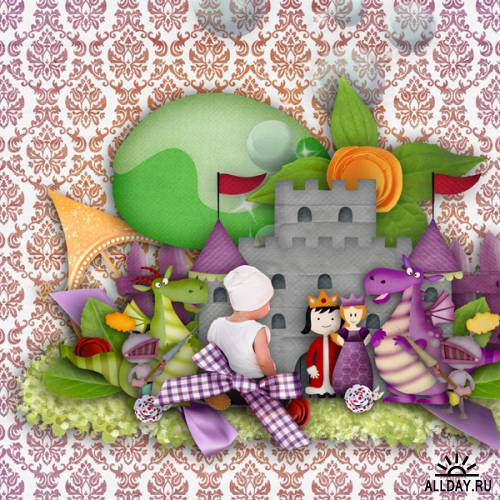 Scrap kit   La Princesse et le Dragon
