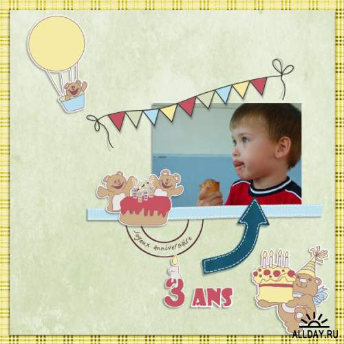 Scrap set - Jai 4 ans