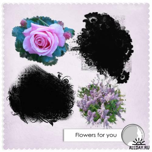 Скрап-набор Flowers for you (Цветы для вас)