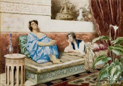 Акварели художника Giuseppe Aureli (1858-1929)
