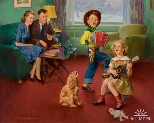 Художник Frederick Sands Brunner (1886 – 1954)