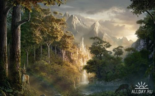 30 Fantasy scenery wallpapers.