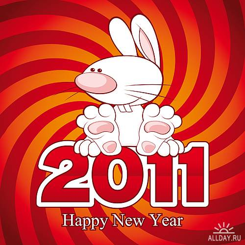 Stock Vectors - 2011 Rabbit   Кролики - символ 2011 года