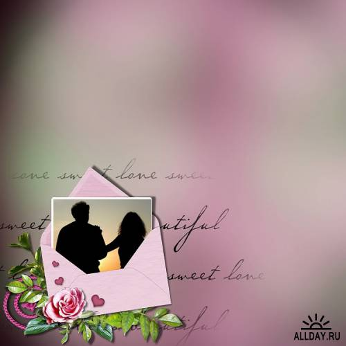 Мини-скрап  Love...love (Любовь, любовь..)