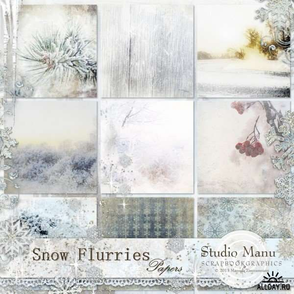 Scrap set - Snow flurries