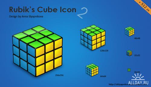 Rubik s Cube Icon  v1 + v2 by shlyapnikova