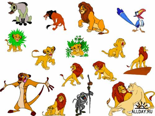 Lion king cartoon characters