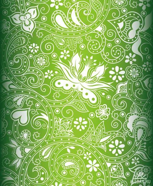 Декоративные фоны - Векторный клипарт | Ornamental backgrounds - Stock Vectors