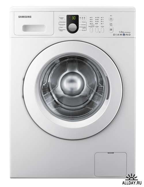 Клипарт -  Стиральные машины на белом фоне / Washing machines