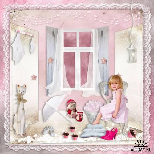 Скрап-набор Girls Love Pink