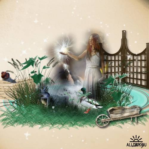 Скрап-набор Истории сада   Garden story