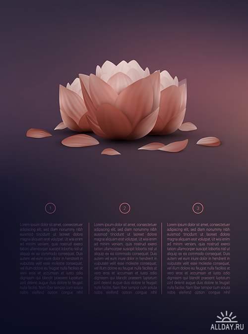 Векторный клипатр - Цветы