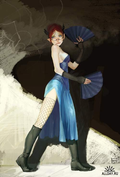 Работы художника - Marc Brunet (Bluefley)