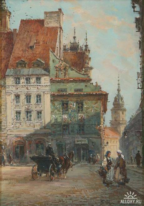 Городские пейзажи Wladyslaw Chmielinski