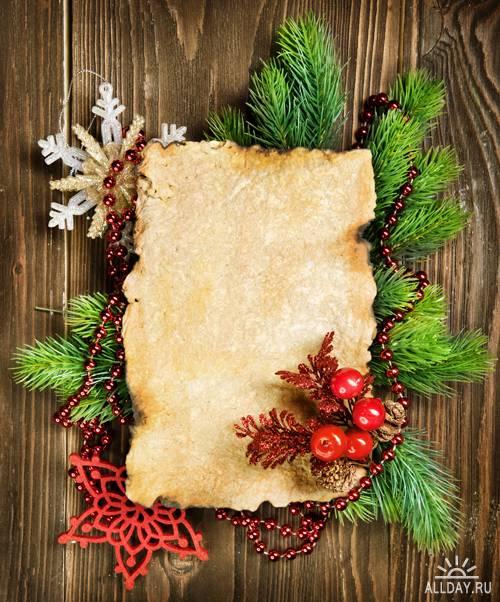 Новогодние рамки  - Растровый клипарт | Xmas Frame - UHQ Stock Photo