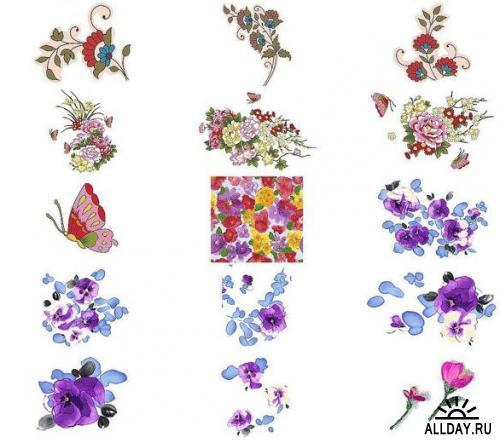ArtCity - Romantic Flower. Volume 2 (110xPSD)