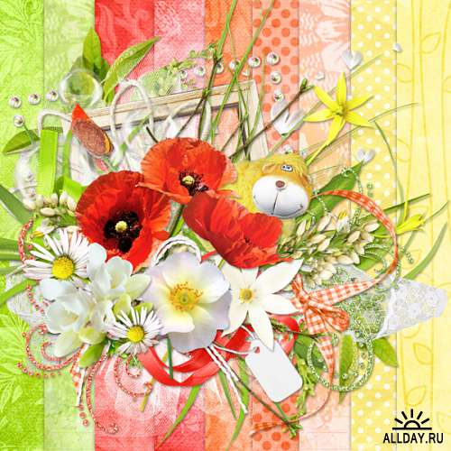 Scrap set - Summer flowers