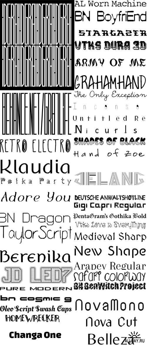 Сборник шрифтов ( часть 5 )  /  Collection of fonts ( Part 5 )