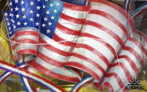 40 USA Independence Day Illustration Wallpapers