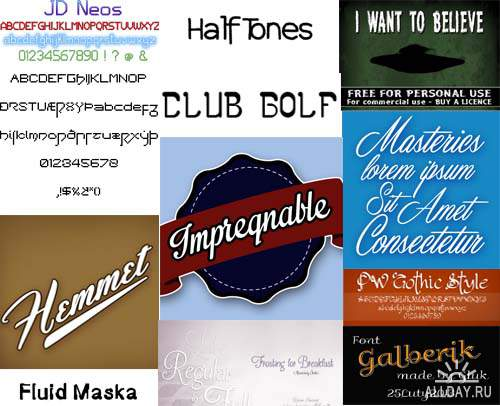 Window Fonts mix