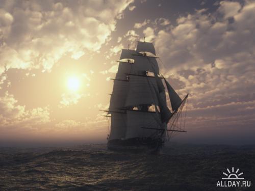Фотообои кораблей и парусников