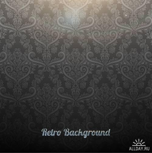 Retro damask background
