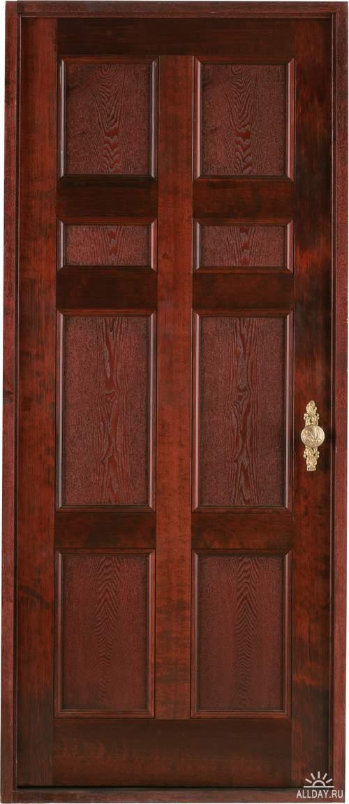 Wooden door | Деревянная дверь и дверная ручка