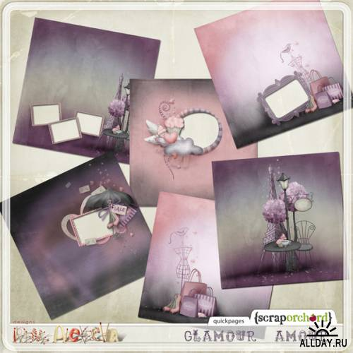 Scrap kit  Glamour Amour