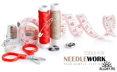 Tools for needlework background